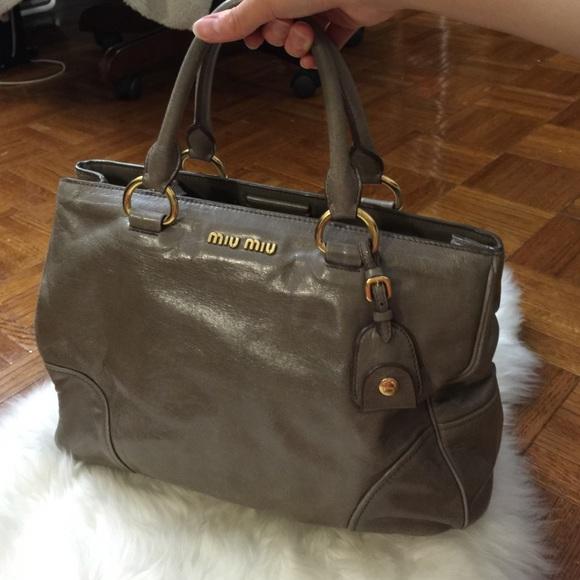 8ad10e7d23a Miu Miu Bags   Distressed Leather Cv Top Handle Bag   Poshmark