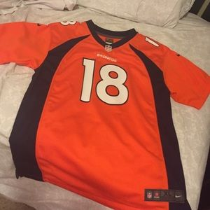 Men's Denver Broncos Peyton Manning #18 2016 Pro Line Black Gold Collection Jersey