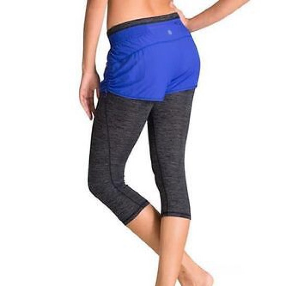 82% off Athleta Pants - *RESERVED* Athleta Go Getter Blue Shorts ...