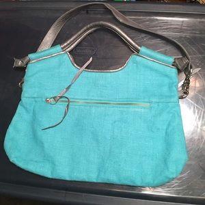 Foley + Corinna Handbags - Foley & Corinna Turquoise & Silver Bag
