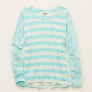 aerie Tops - New Aerie Long Sleeve Striped Top - XLarge