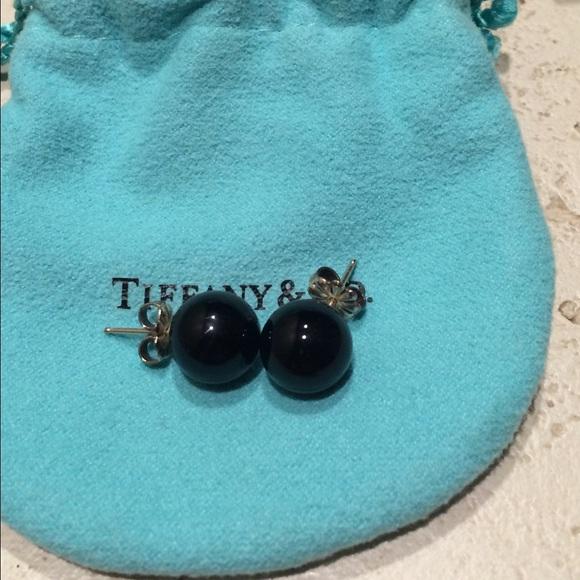 f4276ee78 Tiffany & Co. Jewelry | Tiffany Co Onyx Stud Earrings | Poshmark