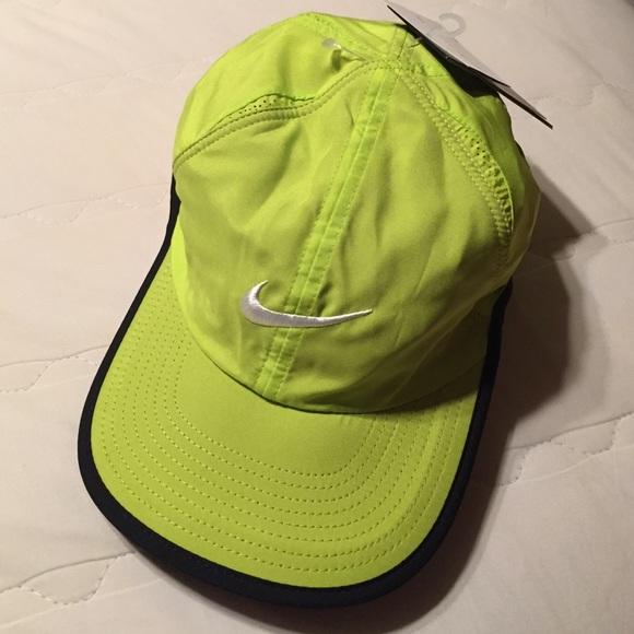 a4255b49c96 Nike Featherlight Tennis Hat Venom Green Dri-Fit