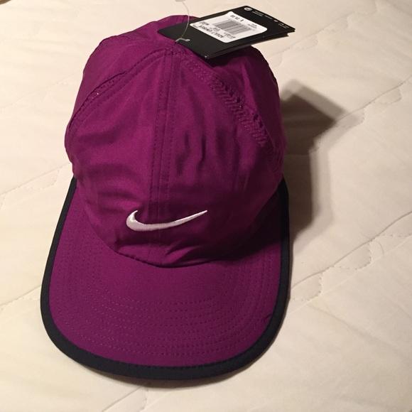 89810acb55d Nike Purple Tennis Hat Featherlight Dri-Fit New