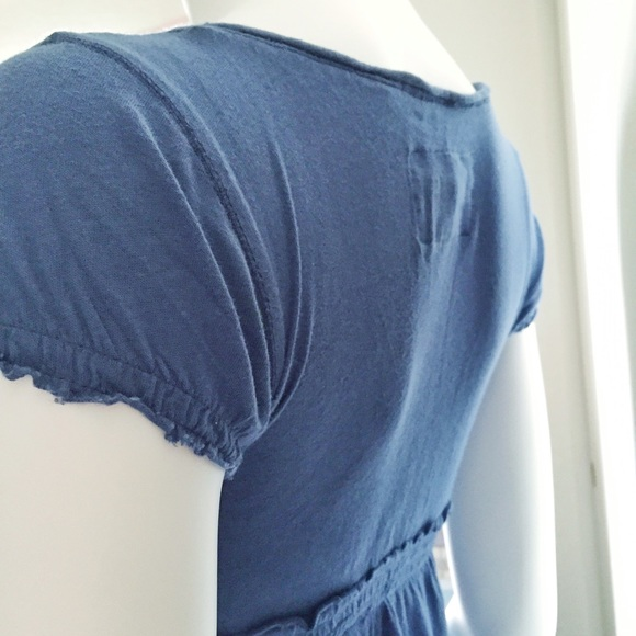 Abercrombie & Fitch Tops - Blue Short Sleeve V Neck Baby Doll Top