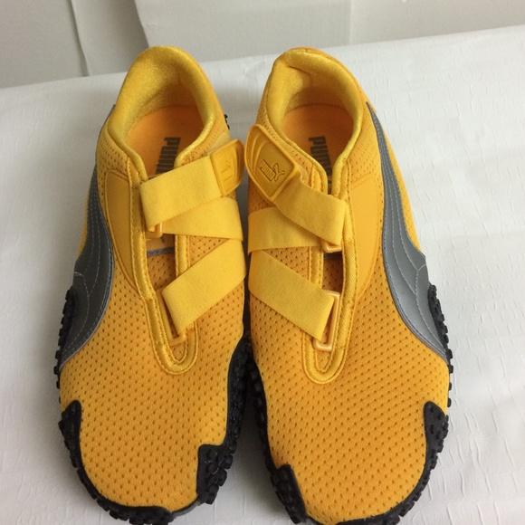Woman Puma Mostro Yellow Perf Comfort Sneakers. M 56f60b8e13302a682f0501f3 e4197d5ea