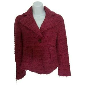 Zara Jackets & Blazers - Zara fuchsia tweed jacket