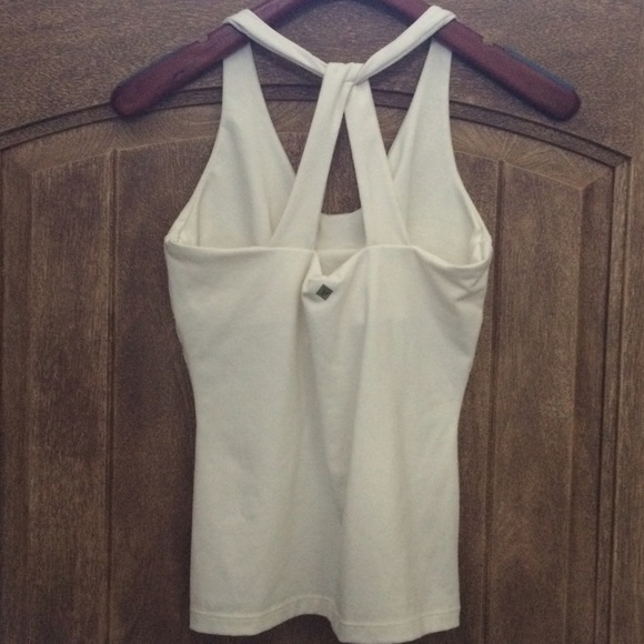 PrAna Brand Ivory Yoga Tank Top! From