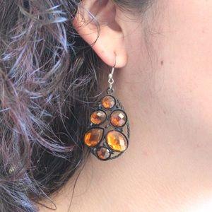 Forever 21 Jewelry - Forever 21 Burnt Orange Tear Drop Earrings