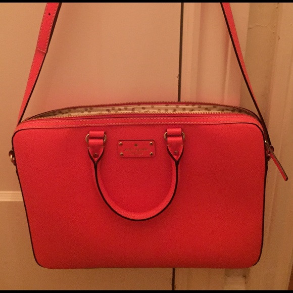best sell half price get cheap Kate Spade Saffiano Leather Laptop Bag