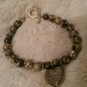 Jewelry - Brown colors silver clasp bracelet new