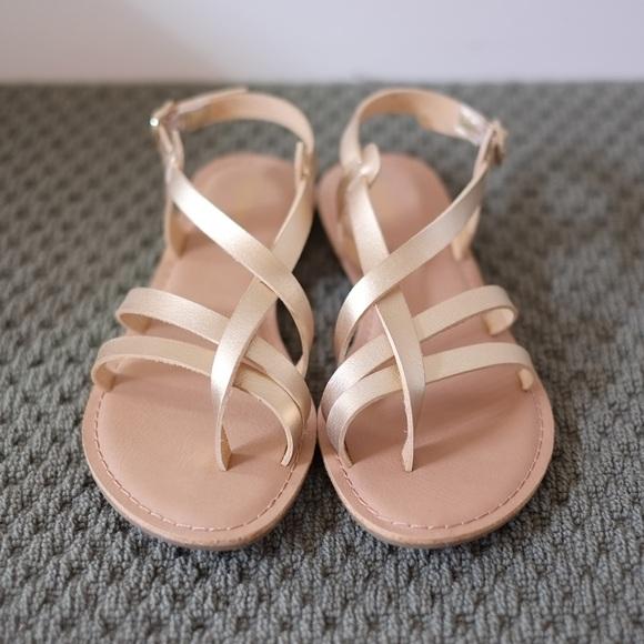 Old Navy Shoes Gold Huarache Strap Sandals 9 Poshmark
