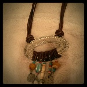 Jewelry - Leather western native American necklace
