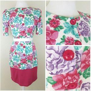  *vintage* lovely floral dress