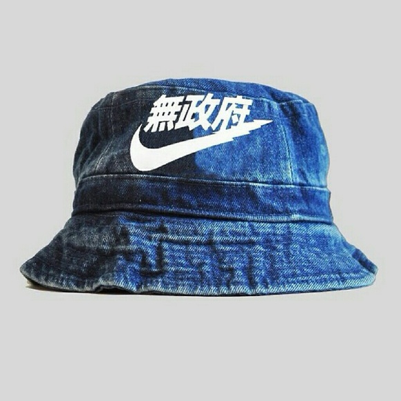 Vintage Very Rare Air Nike Denim Bucket Hat. M 56f63f01bcd4a7be3d054d5c 5043c873146