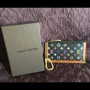 Authentic Louis Vuitton Black Multicolor Cles
