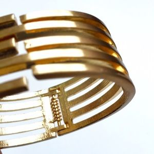 Gold tone hinged cuff from jewelmint