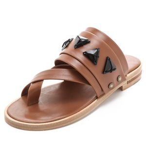 Freda Salvador Mind Swarovski Sandals in Chestnut