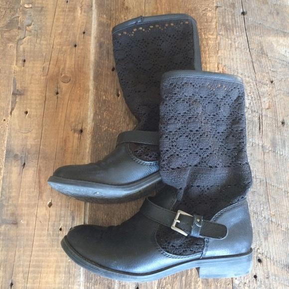 Unionbay Shoes - UnionBay | Black Crochet Boots