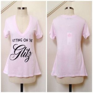 Wildfox couture pink top