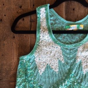 Gorgeous Fully-Beaded/Sequined Statement Crop
