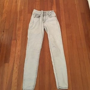 Gray Mossimo High Rise Skinny Jeans