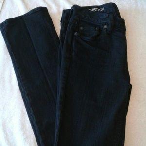 J Crew Black Matchstick 5 pocket Jeans