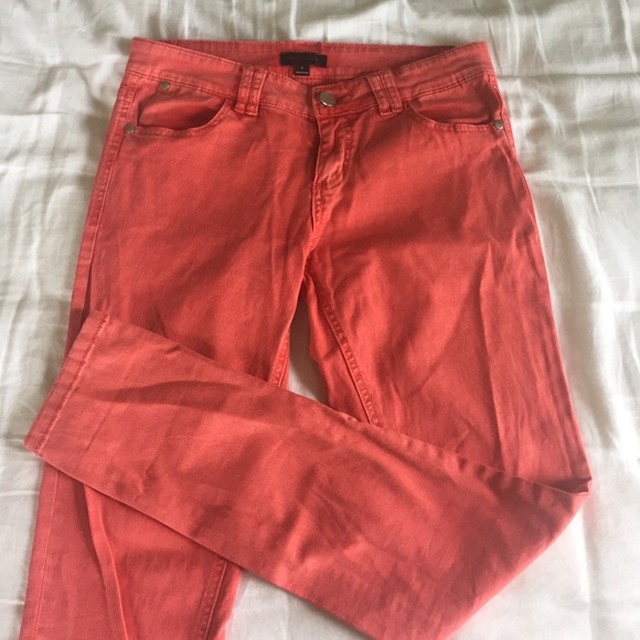 Nordstrom Coral Colored Skinny Jeans
