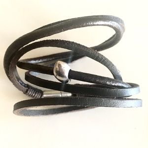 Jewelry - Leather and Silver Cuff