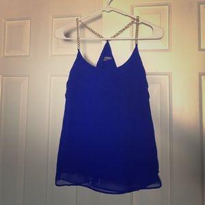 Charlotte Russe Tops - Charlotte Russe Dark Blue Top