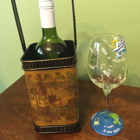 Other Decorative Wine Bottle Holder My Whine Glass Poshmark Adorable Decorative Wine Bottle Holders