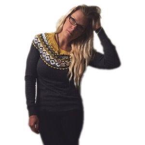 Merona Tops - Brand new Merona mustard and gray soft sweater