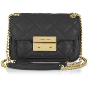 Black small Sloan quilted bag