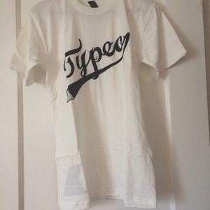 FREE Shirt, Short Sleeve White Typeo Clothing
