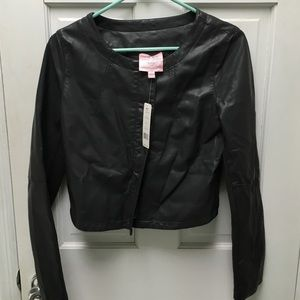 NWT Romeo + Juliet Couture faux leather jacket