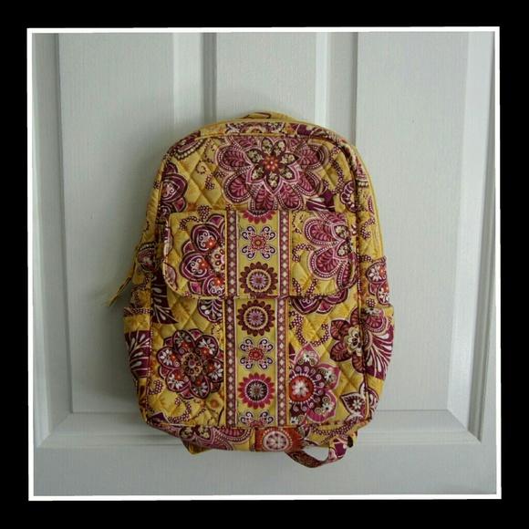 808d50c79cb Small Bali Gold Vera Bradley Backpack. M 56f6c98fea3f36da4600698c