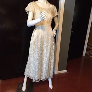 Beautiful ivory vintage lace dress.