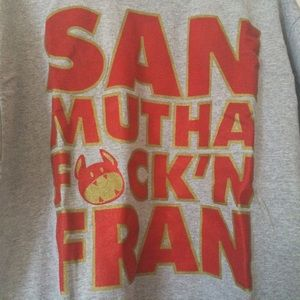 Shirt, Gold/Red Niners Color Font