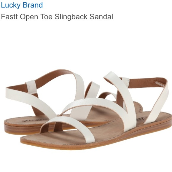 665c5786caf0 Lucky Brand Shoes - Lucky Brand white sandals