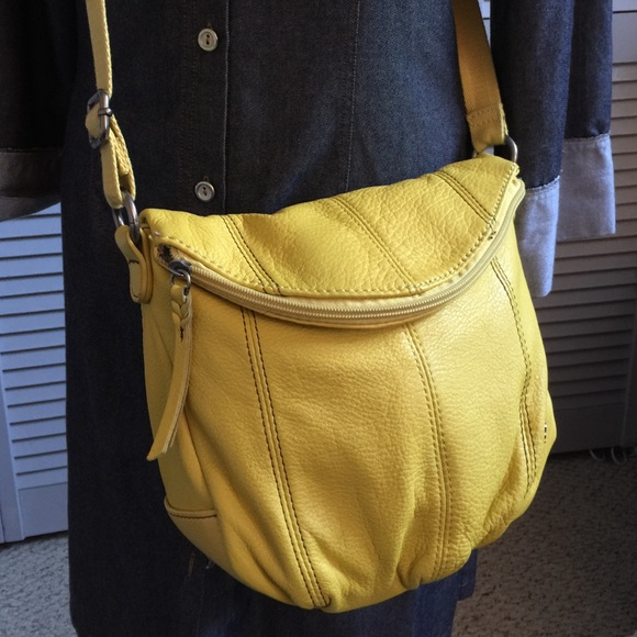 the Sak Yellow Leather Crossbody. M 56f6d2e2c284562567007a94