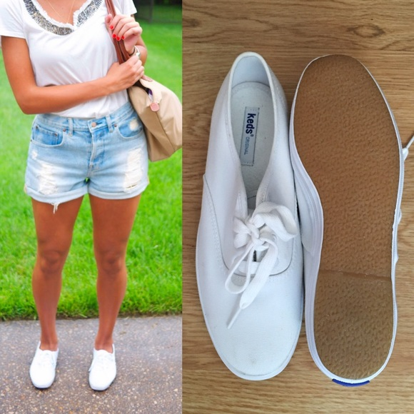 1fadf6478c563d keds Shoes - KEDS champion canvas white flats size 8