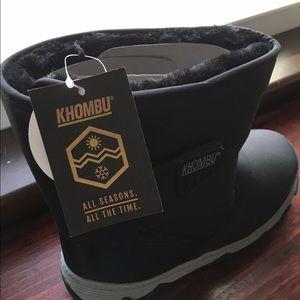 Khombu Shoes - HPNWT Khombu black &gray rain snow boots