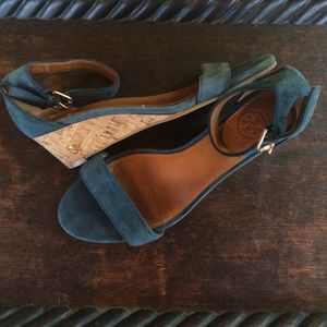 Tory Burch Suede Sandal Wedge Size 6.5