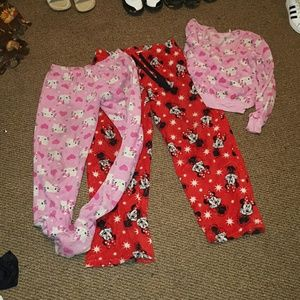 2 piece foot pajamas & pants