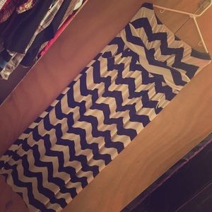 Chevron floor length maxi dress