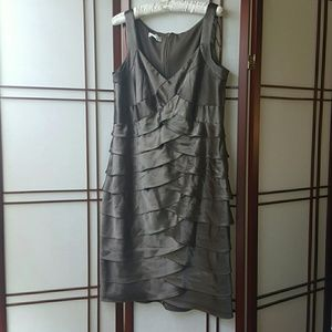 Metallic Coffee Party Dress