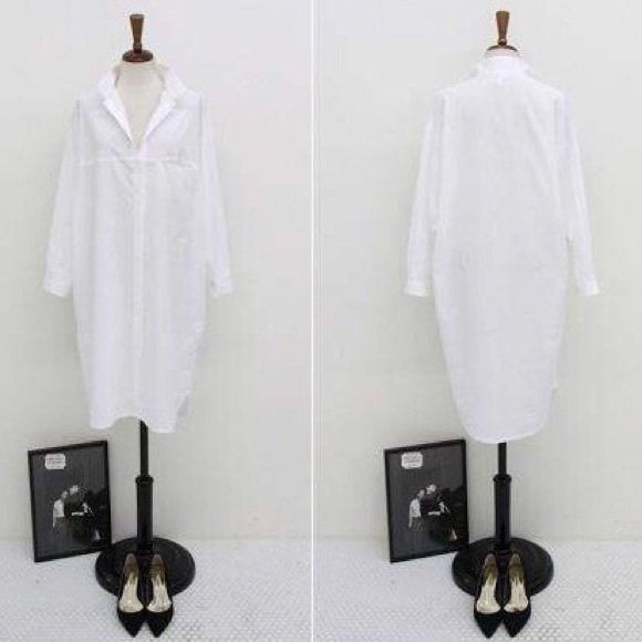 The ultimate white shirt dress, cotton button down S from Bella's ...