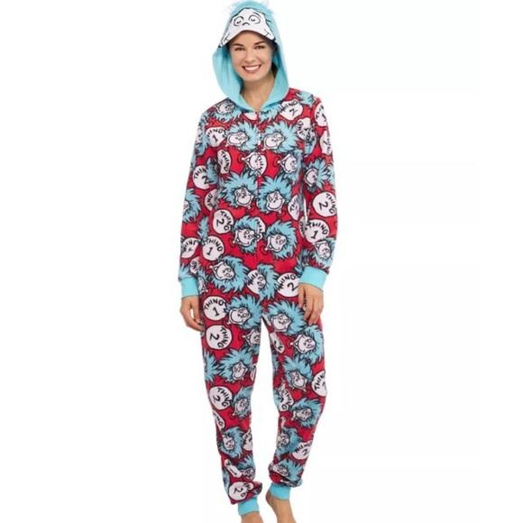 Dr Seuss Intimates Amp Sleepwear Dr Seuss Thing 1 2 One