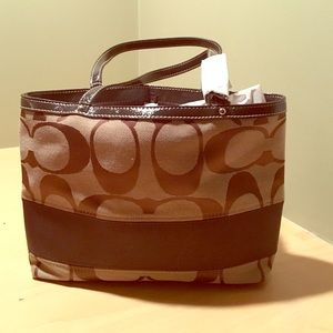 Monogram Brown Leather Clutch Jgn Gold Embroider 11 Quot X 7
