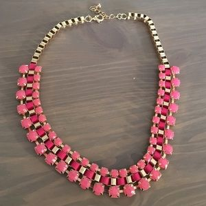 H&M pink and gold beaded necklace